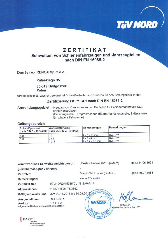 Über die Firma - Bydgoszcz - RENOX